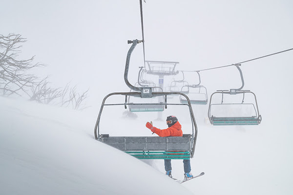 Best snow in 17 years chairlift image